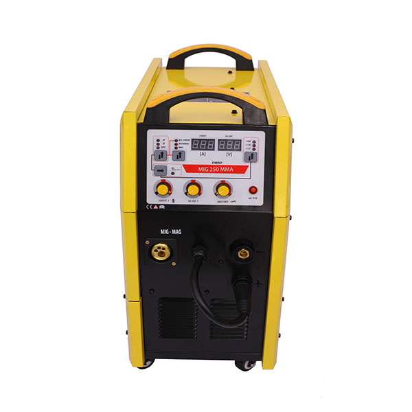 MIG-250 Xtra 220V CO2/Mix-Gas MIG Aluminium/Steel Inverter Portable Wire Welder with CE
